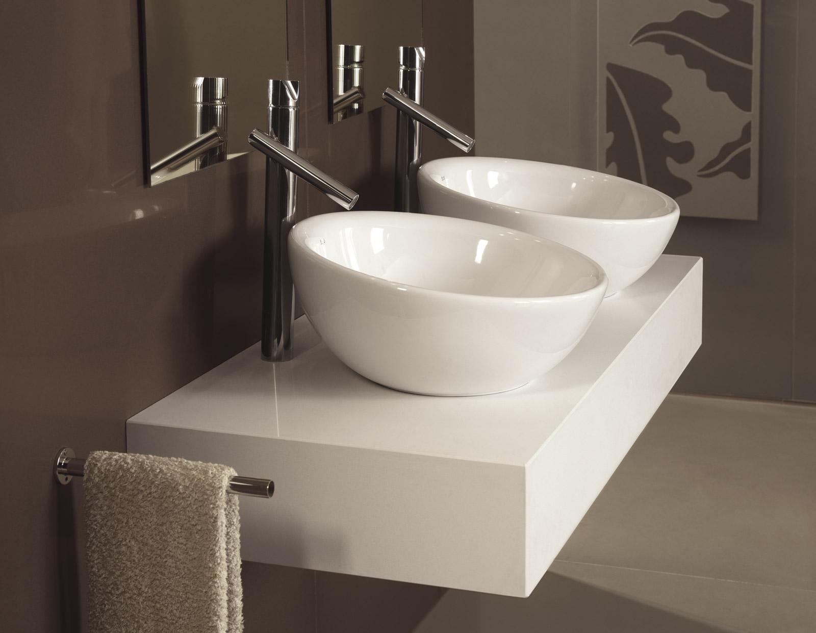 Cocinas puertas armarios y vestidores - Encimeras de cristal para lavabos ...